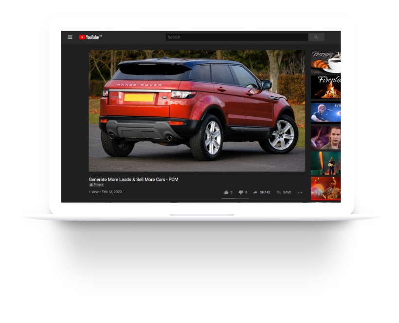 Youtube ads for the automotive industry